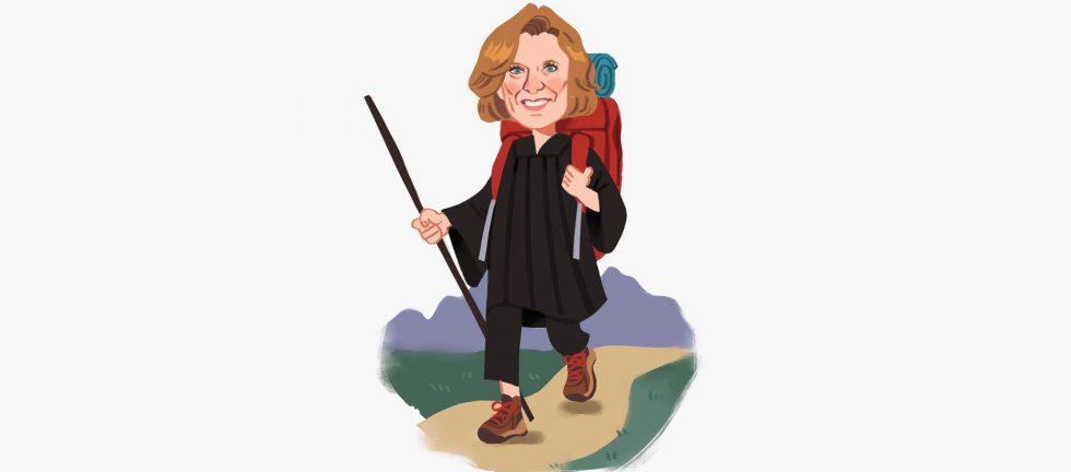 Judge Hammond Hiking w bckgd Abbey Miller